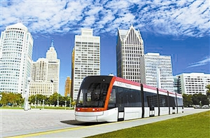 现代有轨电车零尾气排放,噪声比传统公交车低。 (资料图)